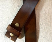 Mahogany Brown Leather Belt Strap for Buckles