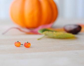 Halloween Jewellery | Pumpkin Earrings | Jack-O-Lantern | Fancy Dress | Autumn Jewellery | Nickel Free