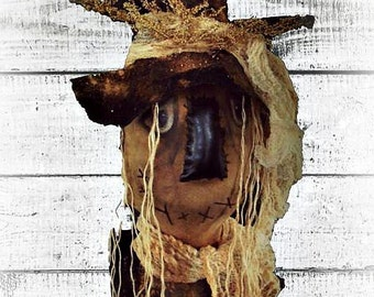 Primitive Scarecrow | E Pattern | Folk Art Scarecrow | Fall Decor | Halloween Scarecrow Oz