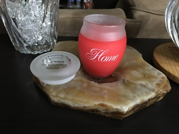 Hand Poured Soy Jar Candle | HOME - A house is made of wood and stone, but only love can make a home | Scent and Color of Your Choice