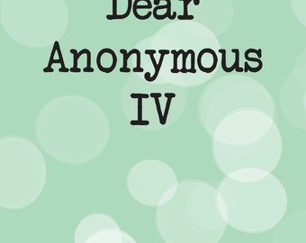 Dear Anonymous 4 - Postage Saver PDF