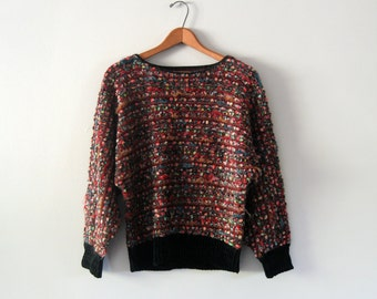 """Vintage 70's """"Answers"""" Sweater Dolman Sleeve Nubby Soft"""