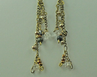 Quartz Dangle Earrings-100% Proceeds to Charity & Free Shipping