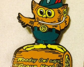 Woodsy Owl Group Hoot String Cheese Incident Hat Pin