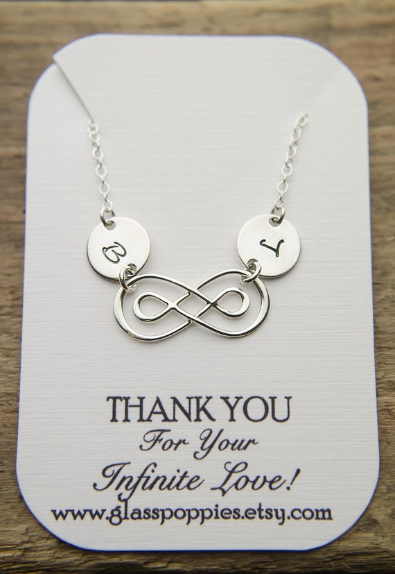 Dainty Infinity Necklace with Two Initials | Bracelet or Choker Sterling Silver | Double Infinity Necklace | Couples or 2 Children Forever