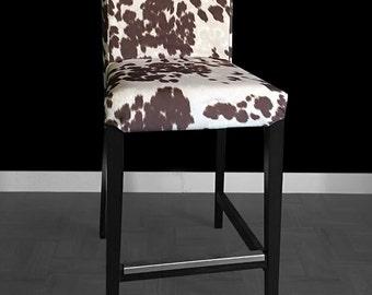 IKEA HENRIKSDAL Bar Stool Chair Cover Cow Print Ikea Slip Cover Custom Ikea Accessories & Bar stool slipcover | Etsy islam-shia.org