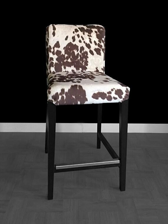 Housse de chaise ikea henriksdal bar tabouret vache imprim for Housse de tabouret ikea
