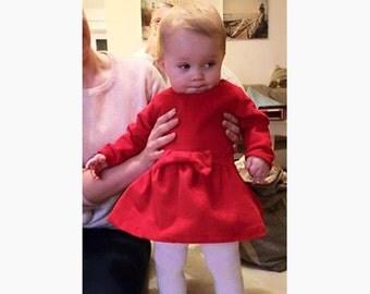 Girl Baby Girl Dress sewing pattern Pdf, TINY MICE Dress, Long Sleeve Short Sleeve newborn 3m 6m 9m 18m 1 2 3 4 5 6 years Instant Download