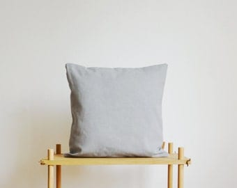 gray pillow cover - made of cotton twill