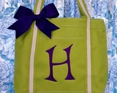 Personalized Flower Girl Tote Bag Flower Girl Bag Monogrammed Tote Bag