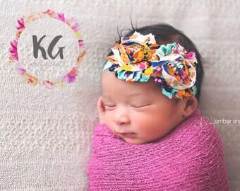 SALE - Baby Girl - Baby Headbands - Newborn Headband - Baby Girl  Headband - Infant Headband - Flower Headband - Baby Accessories - Baby