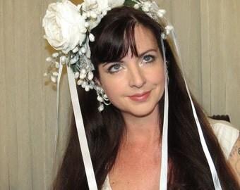 WINTER CARNIVALE Mardi Gras Carnivale Bridal Carnival Style Headdress