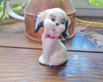 Antique Puppy Figurine, Dog Figurine from the 20's, Miniature Puppy Figurine