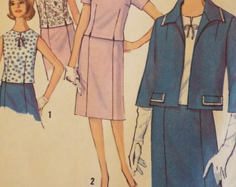 Pretty and practical misses skirt suit and blouse pattern Simplicity 5793