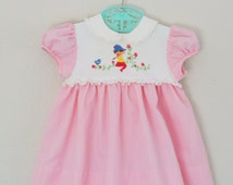Toddler Dress Vintage 70s Baby Clothes