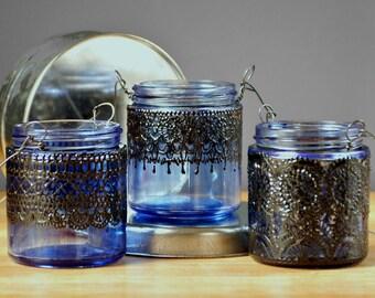 3 Moroccan Party Outdoor Lantern Set, Lantern Wedding Favor Bridesmaids Gifts, Boho Party Decor Shower Favors, Outdoor Lantern Party Lights