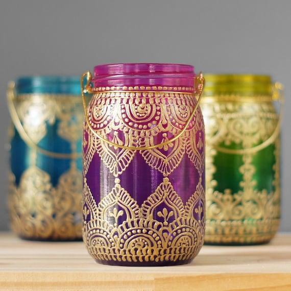 Gypsy Hanging Lantern Bohemian Style Mason Jar Candle Holder