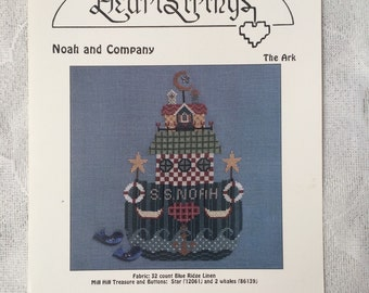 Noah's Ark Counted Cross Stitch Pattern Chart - Noah and Company by Heartstrings