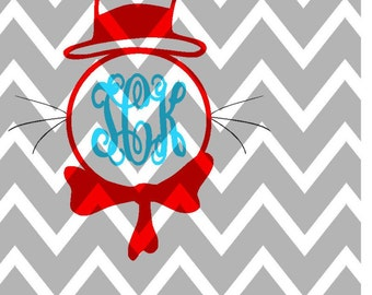 Cat In the Hat Instant Download SVG/DXF