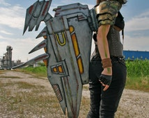 MADE TO ORDER - cyberpunk  mechanical wing steampunk wasteland  post apocalyptic metal effect costume sky pirate aviator gnome engineer