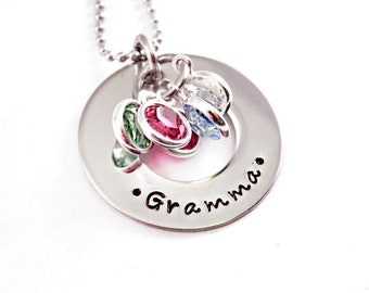 Personalized Grandma Necklace - Engraved Necklace - Christmas Gift Grandma - Mother Necklace - Mother's Day - Personalized Jewelry - 1363