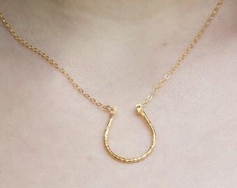 Gold U necklace, U Necklace, Horse Shoe Necklace, Simple Gold Necklace, Layering Necklace, Minimal Necklace, U Shaped Pendant, Modern