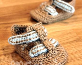 PATTERN Instant Download Baby Shoe Sandals Crochet Booties