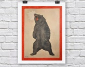 YEAR OF BEAR print / A4 / A3 Signed Inkjet Fine Art Print
