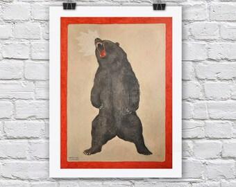 YEAR OF BEAR print / A4 / A3 Signed Inkjet Fine Art Print