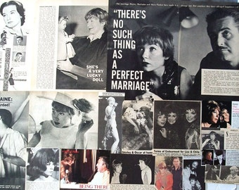 SHIRLEY MACLAINE ~ Terms of Endearment, Steel Magnolias, Being There, The Apartment ~ Color and B&W Clippings, Articles from 1960-1983