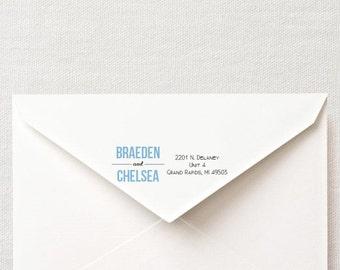 DIY Custom Printable Return Address Labels- Design 1