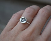 Om Ring, Om, Stacking ring, Sterling Silver, Ohm