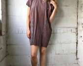 30% OFF Heat Wave 1970s Mexican Woven Huipil Oversized Tunic Mini Dress OS