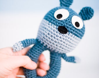 Bear rattle (blue)