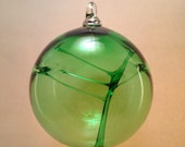 Glass Witch Ball Gorgeous Emerald Green