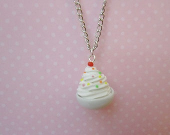 Ice Cream Necklace, Food Necklace, Ice Cream Shoppe, Food Pendant