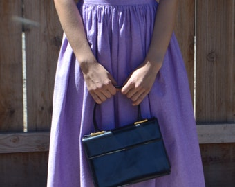 Lavender Garden Party Vintage Dress