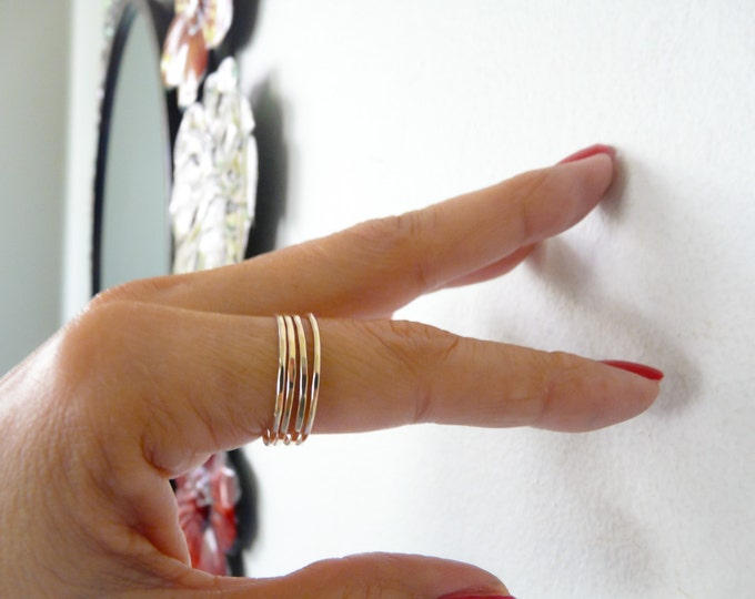 Gold Filled Thin Ring//Stacking Rings// Handmade Jewelry For Her Under 15