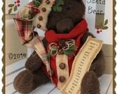 Vintage Style Santa Christmas Bear ePattern