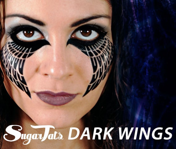 Dark Wings - Temporary Tattoos - Costume Halloween