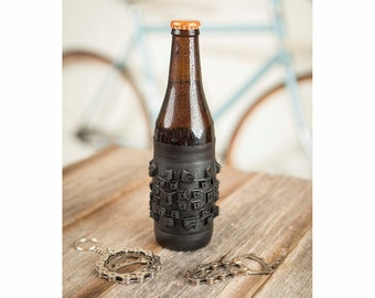 Bike Beer Holder - Bicycle Beer Holder - Gift for Him - Cyclist Gift - Bike Gift - Husband Gift - Boyfriend Gift - Beer