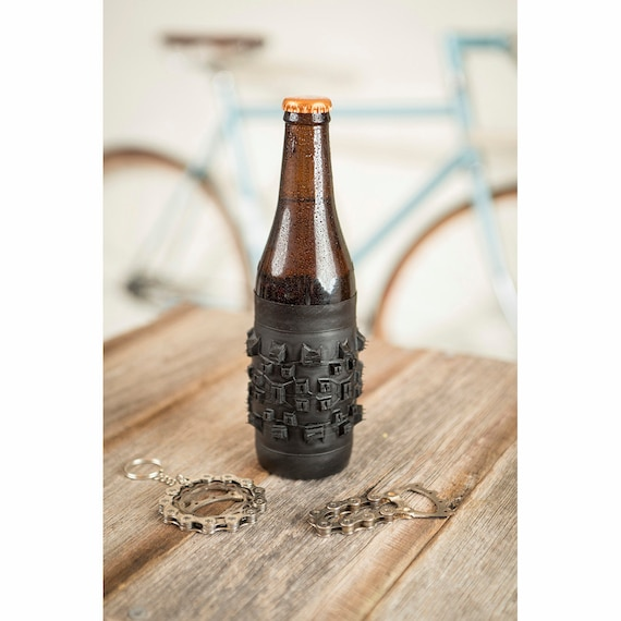 Bicycle Tire Beer Coozie - Um, because it's awesome. And smells like rubber, which is all manly and stuff...really.