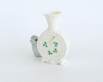 BELLEEK Shamrock Porcelain Bud Vase