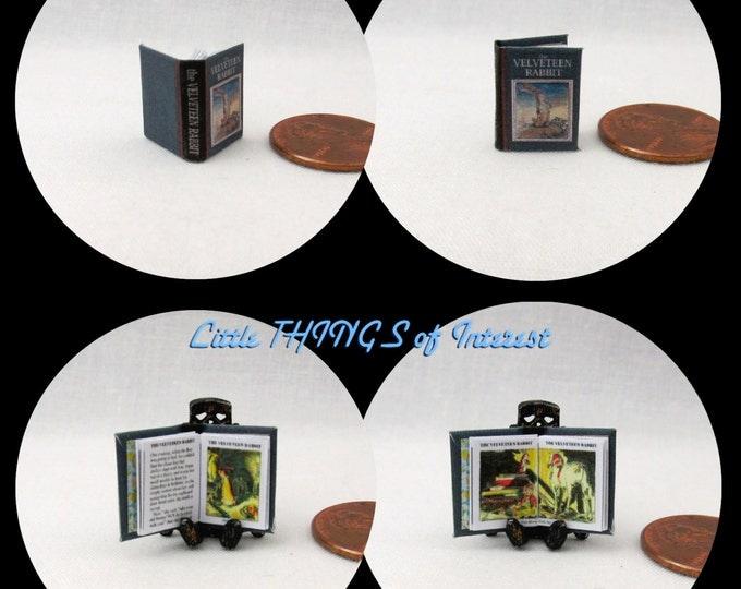 1:24 Scale Book The VELVETEEN RABBIT Miniature Book Dollhouse Illustrated CHILDREN'S Book