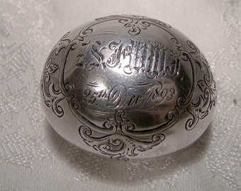 Sterling Silver Nutmeg Grater American 1890s 1893 Antique with Rasp