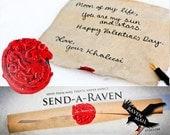 Jeu des trônes Valentine - cire scellé lettre manuscrite défilement avec Targaryen Sigil - Sent dans un tube transparent - Send-a-Raven VDAY