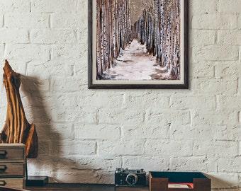 Aspen Grove Art Print, 8x10  11x14  16x20  20x24, Unframed