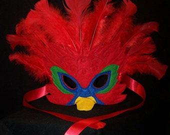 Exotic Bird Masks, Parrot Costume Mask, Peacock Costume Mask, Swan Costume Mask, Firebird Costume Mask, Steam punk plague mask, Cosplay Mask