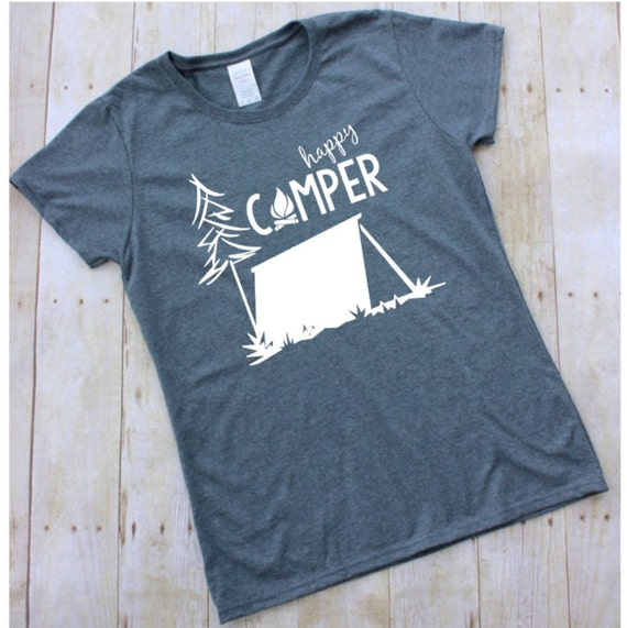 happy camper tshirt by fivewildhearts on etsy