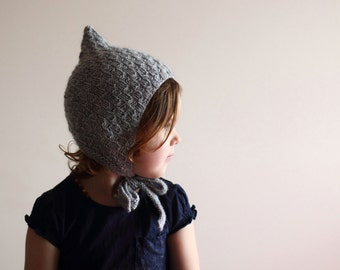 1-3 years, knit toddler hat, ready to ship, RTS, baby bonnet, pixie bonnet, pixie hat, basket weave bonnet, spring bonnet, autumn bonnet